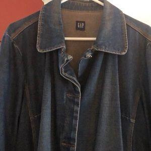 Long vintage denim jacket